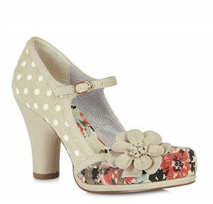 Ruby Shoo Tanya Beige Shoes